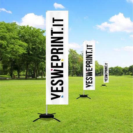 Bandiera pubblicitaria verticale rettangolare