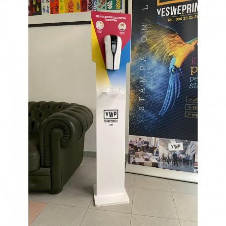 Colonnina porta igienizzante personalizzabile con dispencer automatico